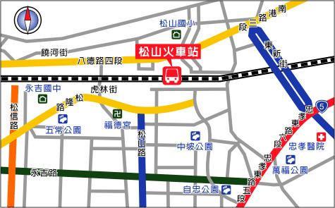 松山火车站地图