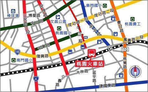 桃园火车站地图
