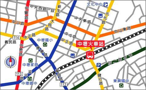 中坜火车站地图